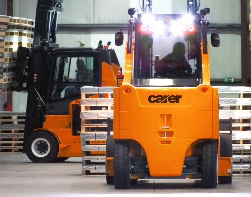 Carer Electric Forklift Truck Range - environmentally-friendly