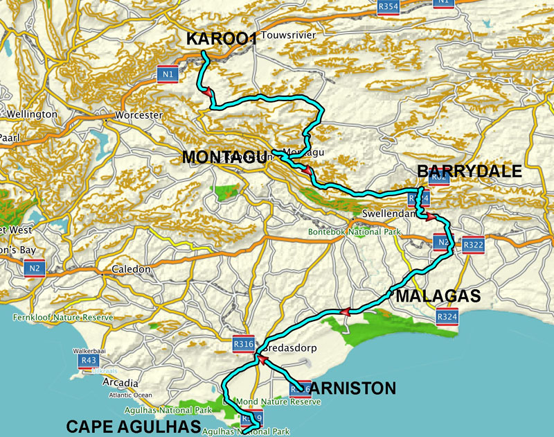 transaid cycle route map
