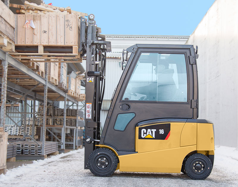 CAT Cabins electric counterbalance forklift