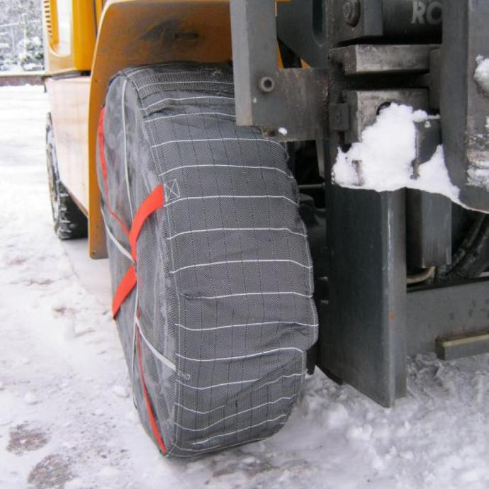 Forklift Snow Sock